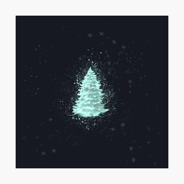 Magical pine tree  Photographic Print