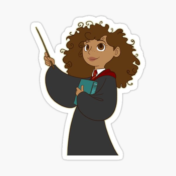 Curly Haired Girl Stickers Redbubble