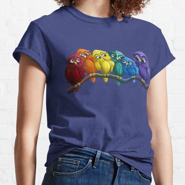 Rainbow Owls  Classic T-Shirt