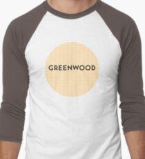 GREENWOOD Subway Station Men's Baseball ¾ T-Shirt