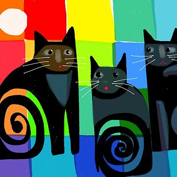 Colourful cats 53 paper by karincharlotte