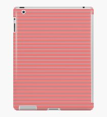 Thin Berry Red and White Rustic Horizontal Sailor Stripes iPad Case/Skin