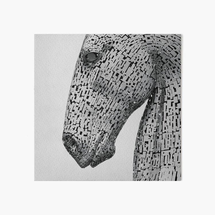 The Kelpies Sculpture Art Board Print