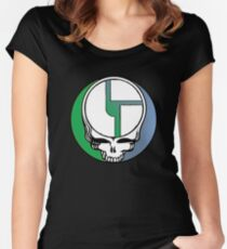 Disco Biscuits Stealie Women's Fitted Scoop T-Shirt