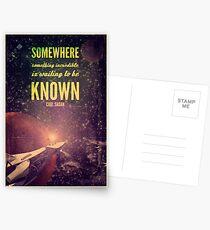 Weltraumforschung (Carl Sagan-Zitat) Postkarten