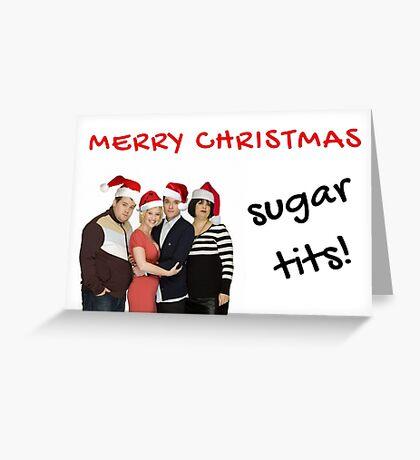 Gavin y Stacey, Regalos de Navidad, Regalos, Cotizaciones, Tetas de azúcar, Tarjetas de Navidad de Meme, Diversión, Buenas vibraciones, Humor, Banter Tarjeta de felicitación