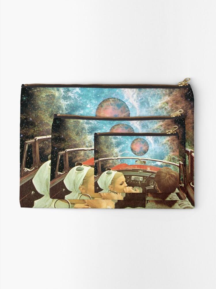 Alternate view of SPACE TRIP. Zipper Pouch
