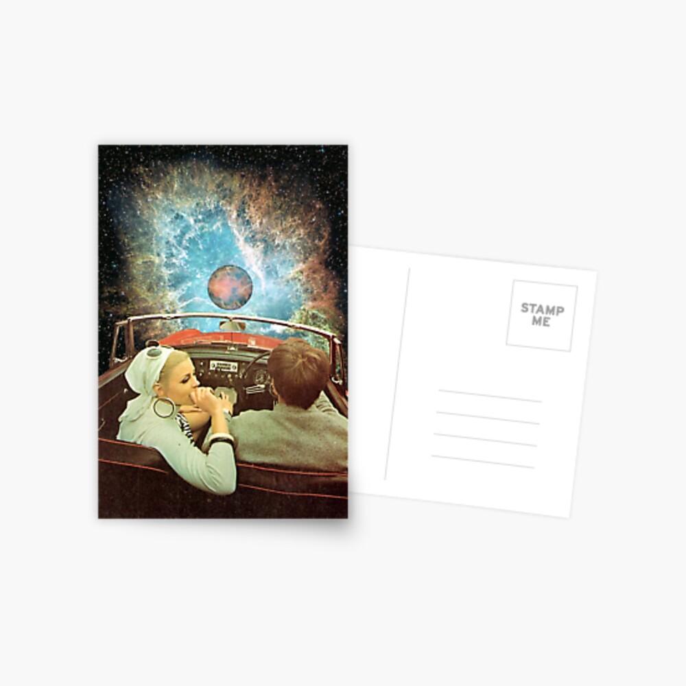 WELTRAUMAUSFLUG. Postkarte