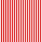 Original Berry Red and White Rustic Vertical Tent Stripes by honorandobey