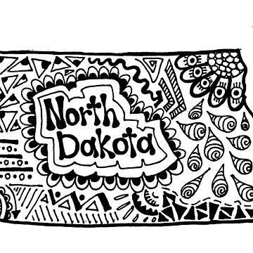 North Dakota Zentangle by alexavec