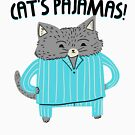 Cat's Pajamas | Funny Cute Cat by Kittyworks