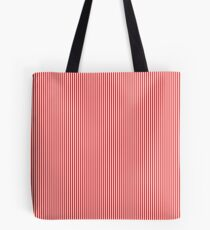 Thin Berry Red and White Rustic Vertical Sailor Stripes Tote Bag