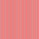 Mini Berry Red and White Rustic Vertical Pin Stripes by honorandobey