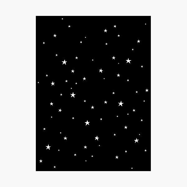Kleine Sterne dunkel Fotodruck