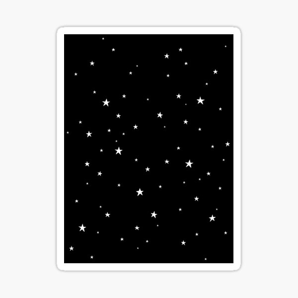 Tiny Stars Dark Sticker