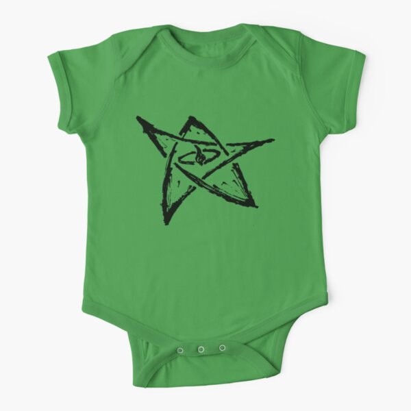Call of Cthulhu, The Elder Sign - Ink Black Short Sleeve Baby One-Piece