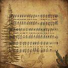 Christmas Jingle Bells Music - Vintage illustration by Lena127