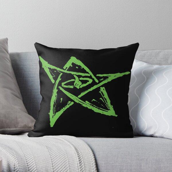 Call of Cthulhu, Elder Sign - Green Throw Pillow