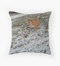 My Snow Throw Pillow