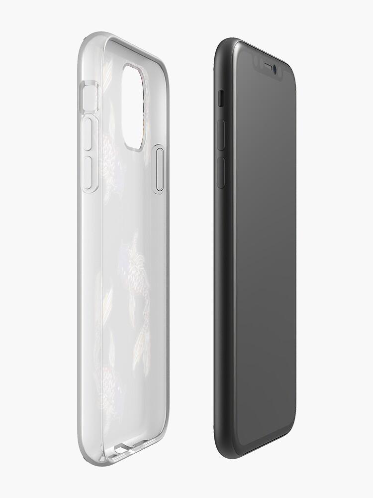 Coque iPhone «Poisson Coy élégant cousu», par genevievedesign