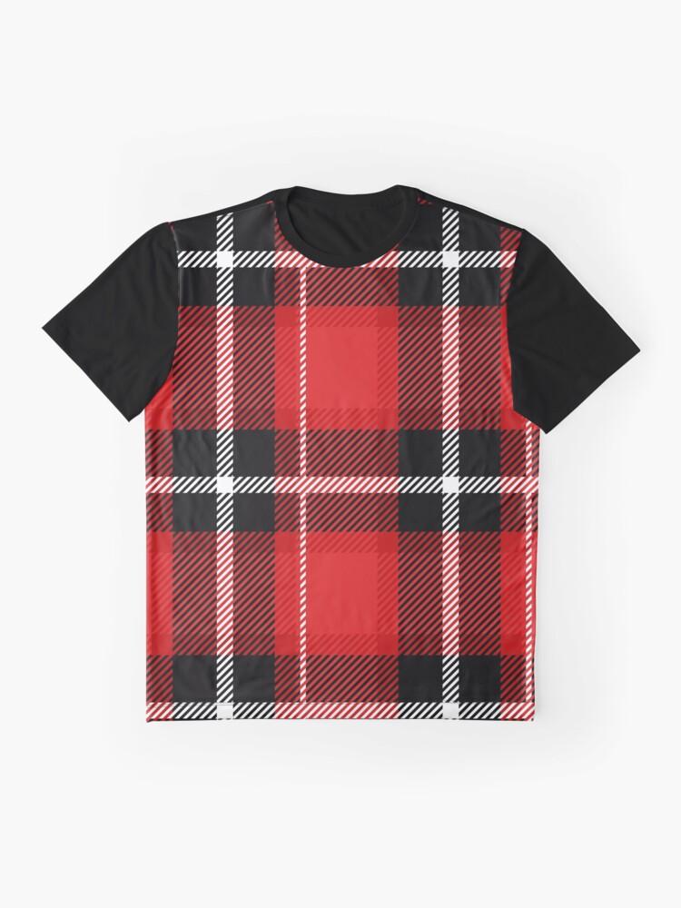 Alternative Ansicht von Rot + schwarz kariert Grafik T-Shirt