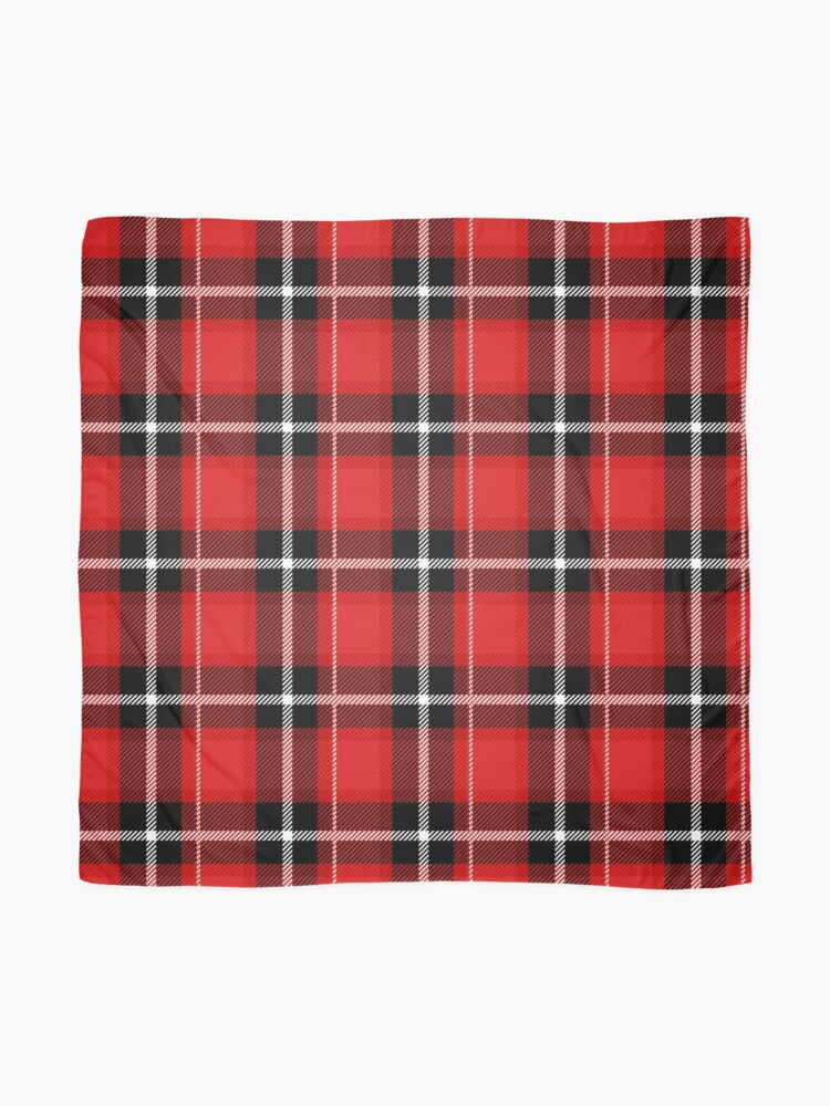 Alternative Ansicht von Rot + schwarz kariert Tuch