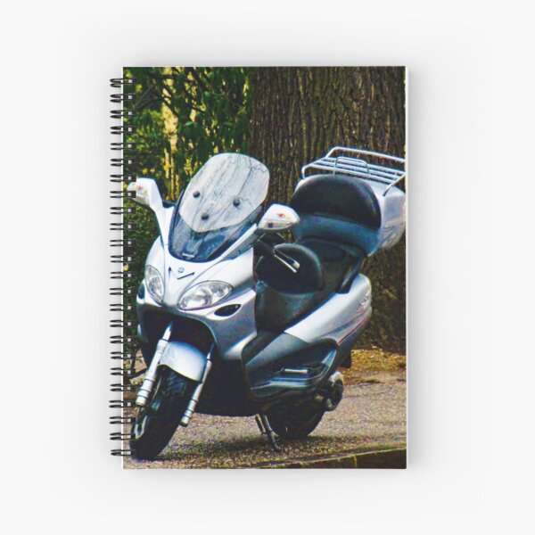 Face on a Moped, Bolzano/Bozen, Italy Spiral Notebook