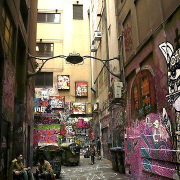 Graffiti lane, Melbourne by rozmcq