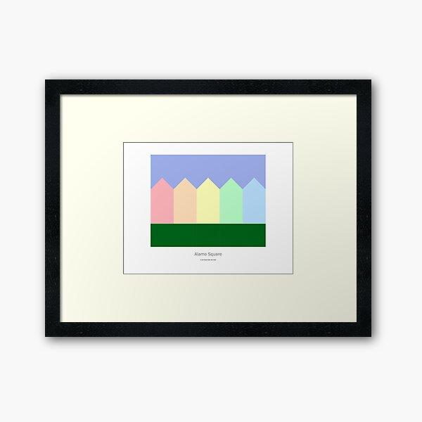 Alamo Square Framed Art Print