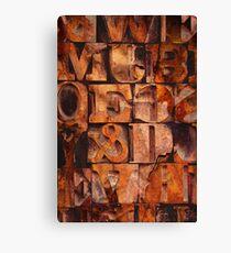 Block Letters Variation 1 Canvas Print