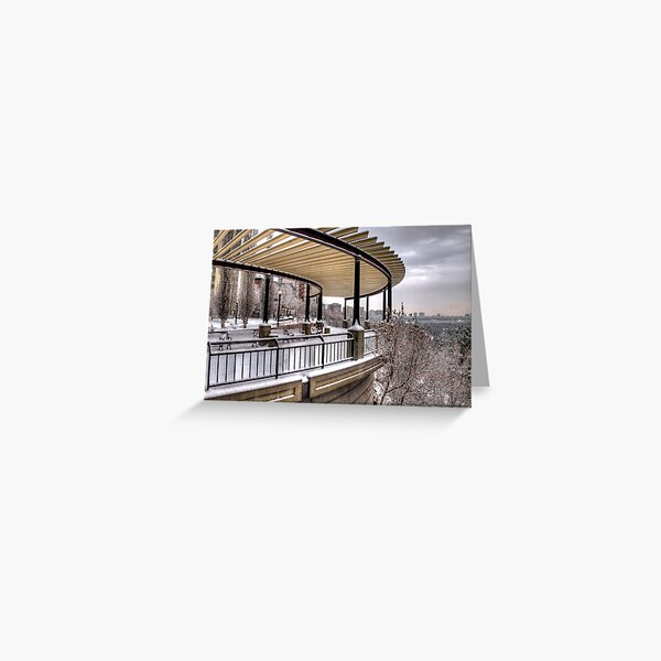 Lookout Point over Edmonton River Valley Greeting Card