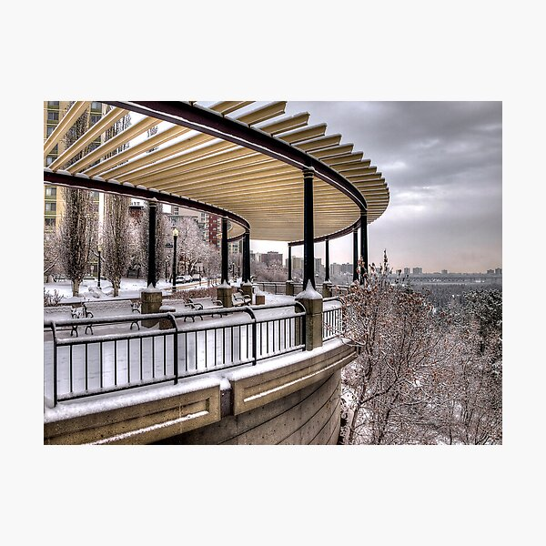 Lookout Point over Edmonton River Valley Photographic Print