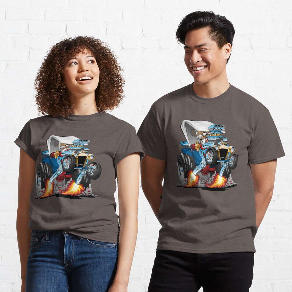 Custom T-bucket Roadster Hotrod Cartoon Illustration Classic T-Shirt