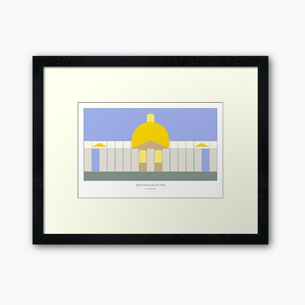 San Francisco City Hall Framed Art Print