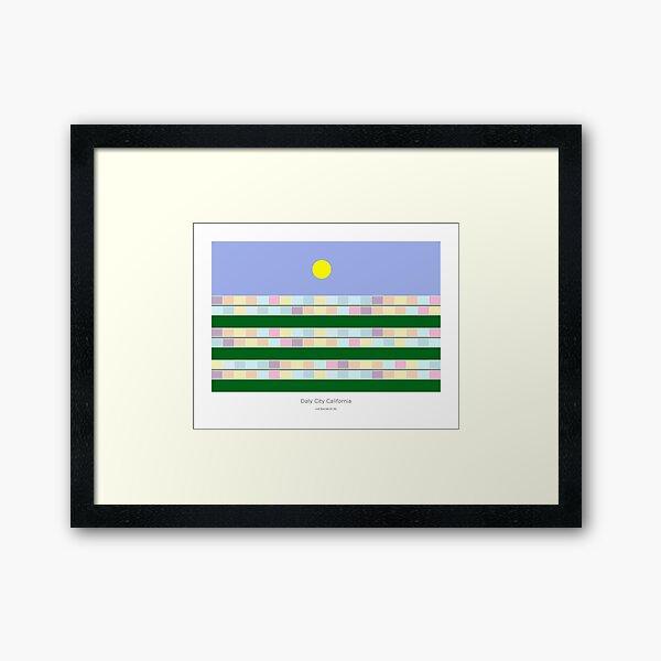 Daly City California Framed Art Print