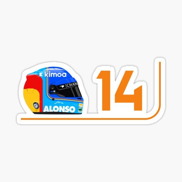 Fernando Alonso 2018 Casco y numero Pegatina