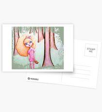 Wandering Goldilocks (Worn, Distressed, Vintage-y Version) Postcards