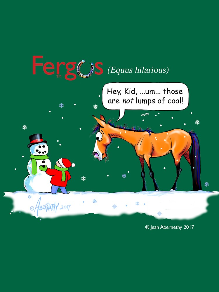Fergus the Horse: Lumps of Coal by JeanAbernethy