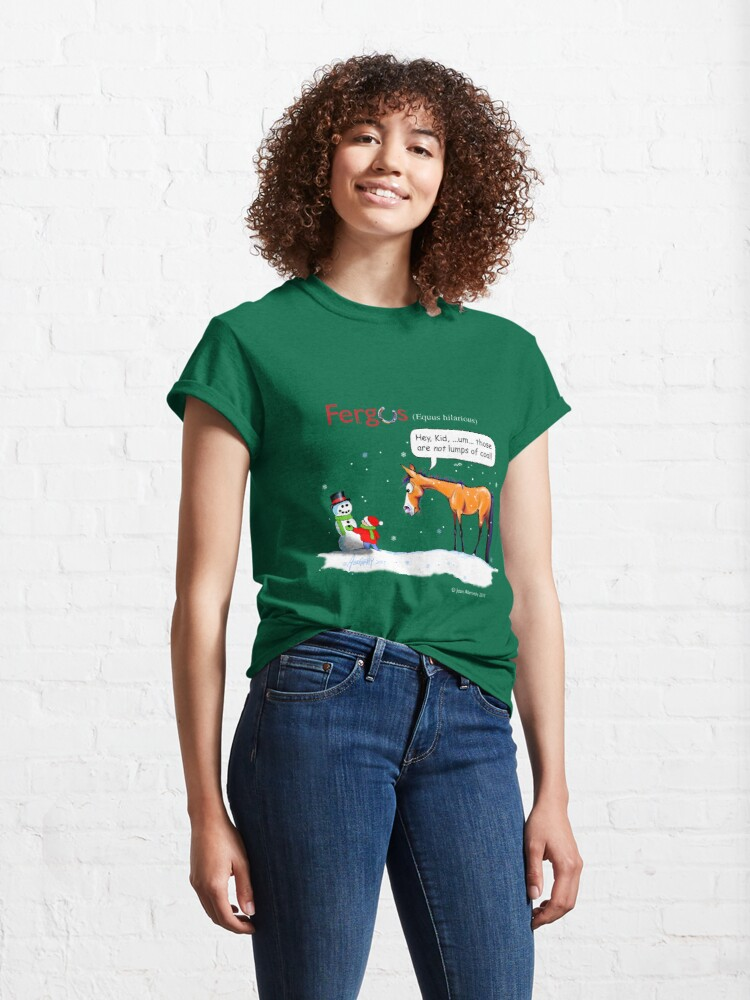 Alternate view of Fergus the Horse: Lumps of Coal Classic T-Shirt
