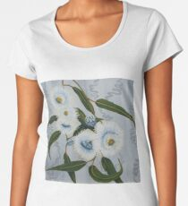 Blue Gum Blossoms Women's Premium T-Shirt
