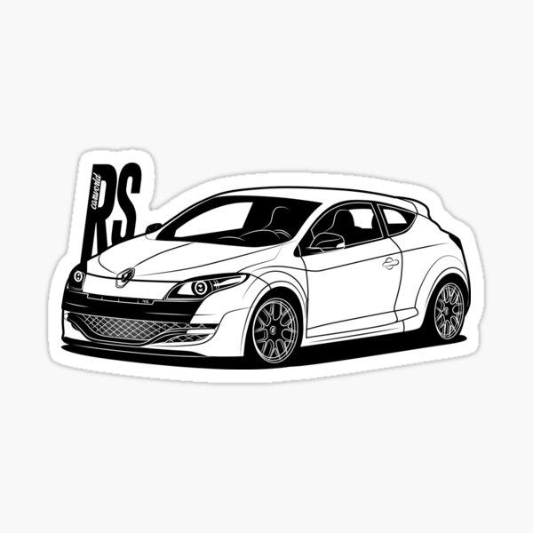 Renault Megane RS MK3 Meilleur maillot Sticker