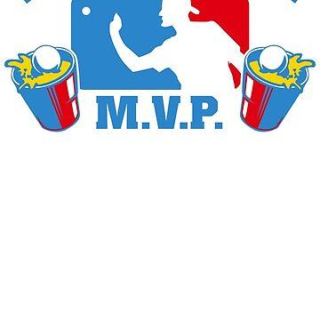 Beer Pong mvp Funny TShirt Epic T-shirt Humor Tees Cool Tee by maikel38