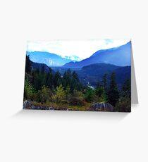 Coast Mountains,B.C. Greeting Card