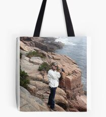 Getting the Shot ~ Acadia, Maine Tote Bag