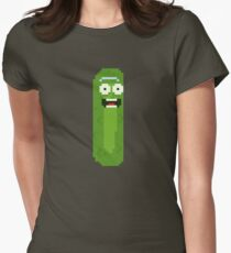 Pickle Rick 16bit Women's Fitted T-Shirt
