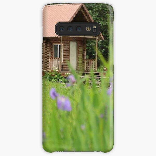 Alaskan Cabin with Irises  Samsung Galaxy Snap Case
