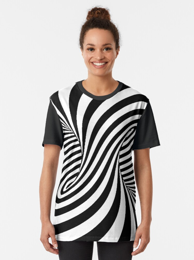 Alternate view of Op Art Trippy Optical Illusions Graphic T-Shirt