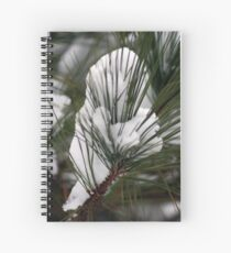 Pine Needles in the Snow Spiral Notebook