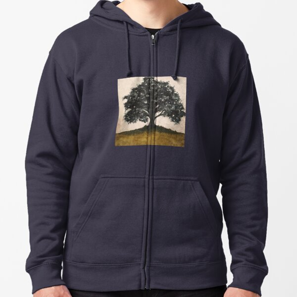 Sombre Oak Zipped Hoodie