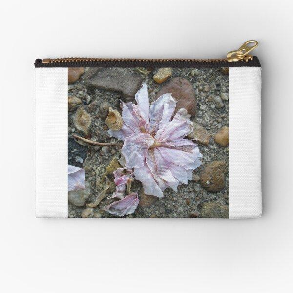 Fallen Pink Blossom Zipper Pouch
